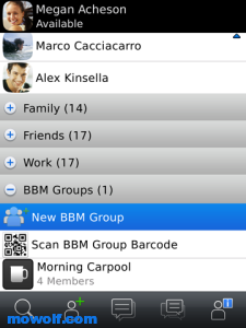 BlackBerry Messenger برنامج مسنجر بلاك بيري BlackBerry Messenger اخر اصدار 2011